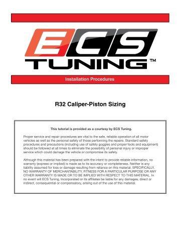 R32 Caliper-Piston Sizing