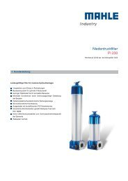 Niederdruckfilter Pi 230 - MAHLE Industry - Filtration