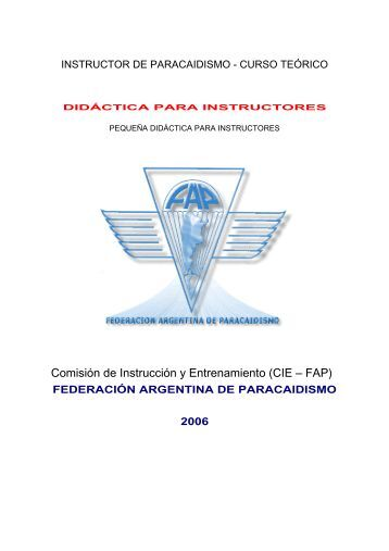 INSTRUCTOR DE PARACAIDISMO - CURSO TERICO - Federacion ...