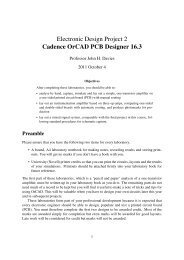 Cadence OrCAD PCB Designer - School of Engineering