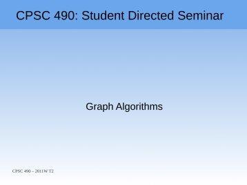 Graph Algorithms - Ugrad.cs.ubc.ca