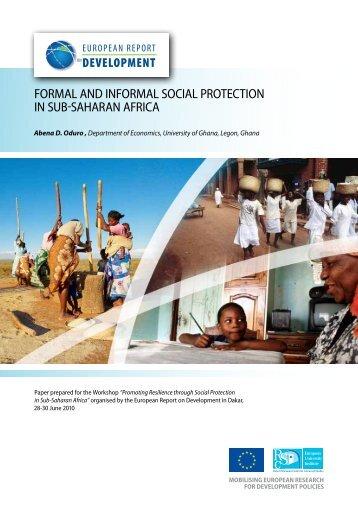 formal and informal social protection in sub-saharan africa - ERD