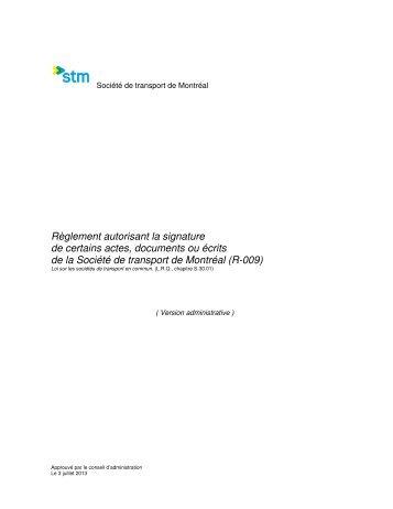 RÈGLEMENT R009-6 Mars 2012_Version admin._ - Société de ...