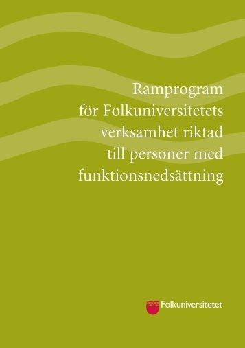 Ladda ner ramprogram - Folkuniversitetet