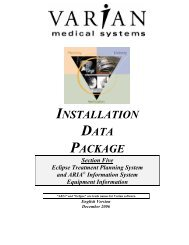 Download Installation Data Package - Varian