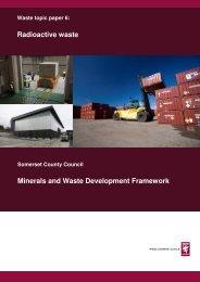 Radioactive waste Minerals and Waste Development Framework