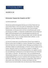Vergesst den Vergleich mit 1931 - Universität Bielefeld