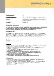 Bereichsleiter/in Service Sicherheits- / Elektrotechnik Branche