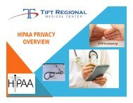 HIPAA PRIVACY OVERVIEW - Tift Regional Medical Center