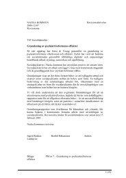 PM 7 - Effekter av psykiatrireformen - Nacka kommun