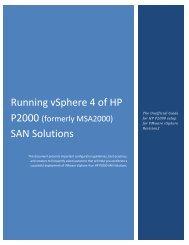 Running vSphere 4 of HP P2000