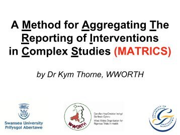 MATRICS - MRC Network of Hubs for Trials Methodology Research