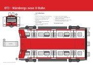 V5058.07 Bastelbogen U-Bahn DT3 - VAG