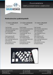 Lataa esite - Suomen Imurikeskus Oy