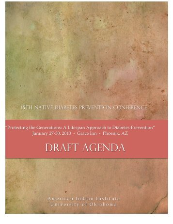 draft agenda - AII - American Indian Institute - University of Oklahoma