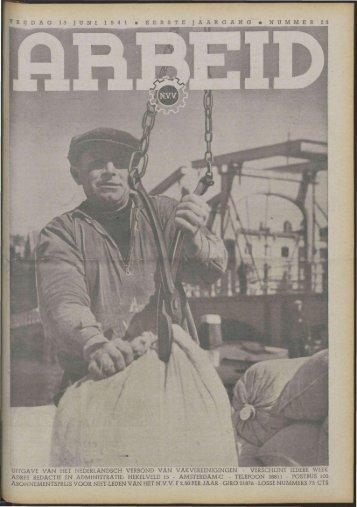 Arbeid (1941) nr. 23 - Vakbeweging in de oorlog