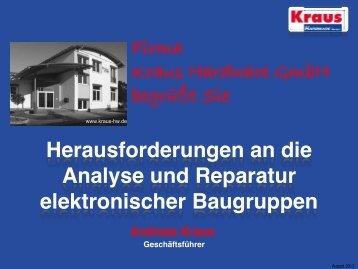 Herausforderungen an die Reparatur von Baugruppen - Kraus ...