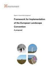 framework for implementation of the ELC in Sweden