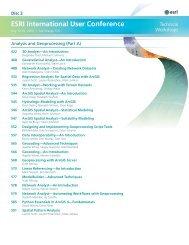 2010 ESRI International User Conference :: Technical Workshops ...