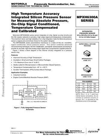 High Temperature Accuracy Integrated Silicon Pressure Sensor for ...