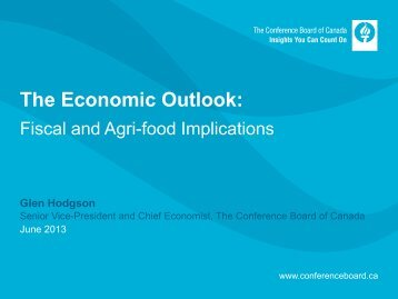 The Economic Outlook: - State Agriculture and Rural Leaders