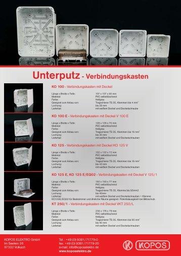 Unterputz- Verbindungskasten