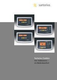 Sartorius Combics Vier Indikatoren – ein Bedienkomfort - Waagen