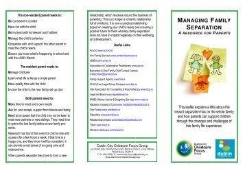 Managing Family Separation leaflet - Dublin.ie