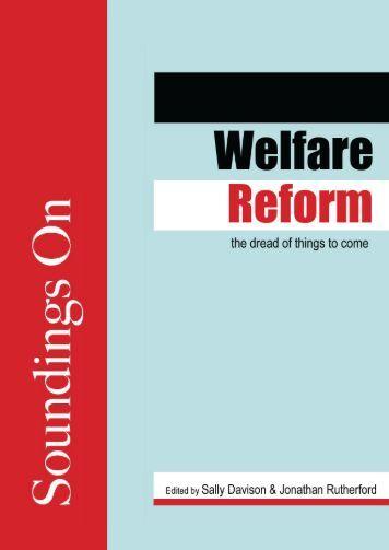 Welfare Reform.indd - Lawrence & Wishart