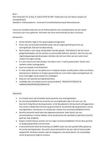 08c bijlage onderzoek naar een betere aanpak van woninginbraken ...