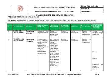 ANEXO 5 PLAN DE CALIDAD DEL SERVICIO EDUCATIVO.pdf - ITCJ