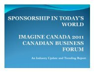 An Industry Update and Trending Report - Imagine Canada