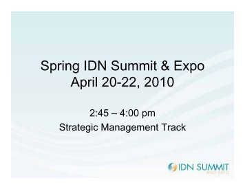 Positive Deviance - IDN Summit and Expo