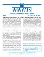 Morbidity and Mortality Weekly Report - Library