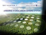 airborne hydrocarbon sensing system - Sky Hunter Exploration Ltd.