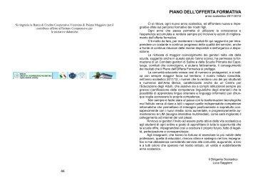 PIANO DELL'OFFERTA FORMATIVA - Icsfogazzaro.it