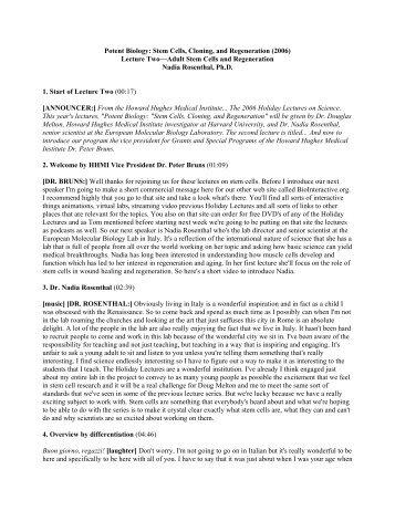 Lecture 2 (PDF) - Howard Hughes Medical Institute