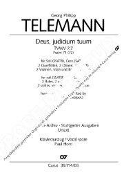 Page 1 Georg Philipp TELEMANN Deus, judicium tuum TVVVV 7:7 ...