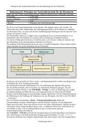 Bedeutung der Prinzipien der Nachrichtentechnik für die Hörakustik