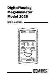 AEMC Model 1026 Megohmmeter Manual PDF - Instrumart