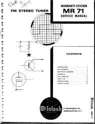 MR71 tuner service manual - tubebooks.org