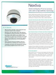 Nextiva S5000 All-Weather IP Dome Cameras - Leading provider of ...
