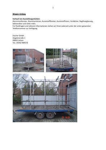 Wegen Umbau 1 - Vischer GmbH