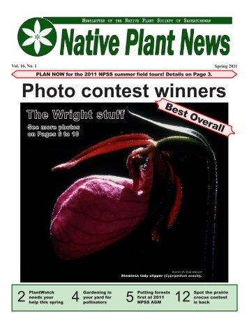 Spring 2011 - Native Plant Society of Saskatchewan