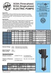 COA Electric Coolant Pumps - Rotor UK