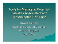 Tools for Managing Potential Liabilities Associated with ...