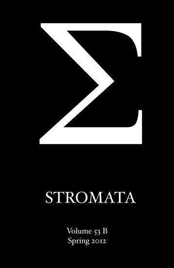 STROMATA - Calvin Theological Seminary