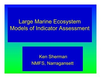 Large Marine Ecosystem Models of Indicator Assessment - rargom