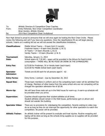 Registration Form (pdf) - Michigan Competitive Cheer