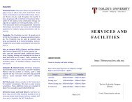 SERVICES AND FACILITIES - Home | Taylor's Library Official Website